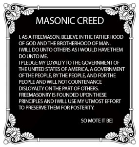 Masonic Creed